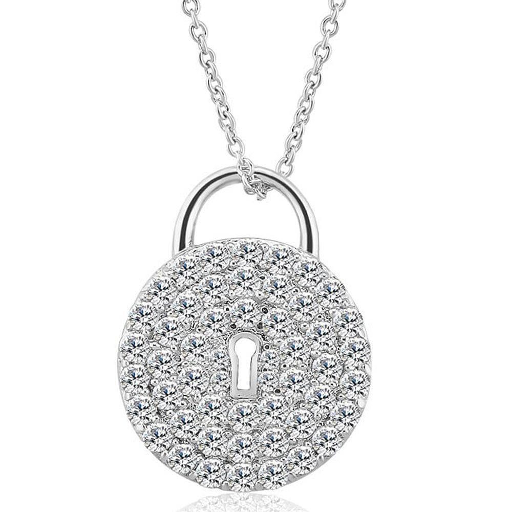 Fancy Padlock Necklace - Brilliant Co