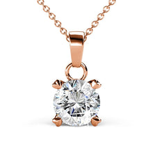 Solitaire Pendant Necklace Ft Crystals From Swarovski