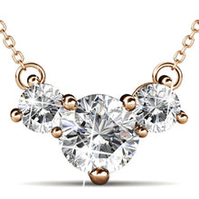 The Brilliant Trilogy Necklace Embellished with Swarovski crystals - Brilliant Co