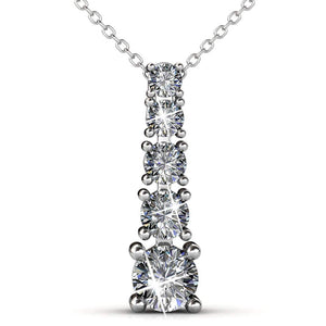 Crystal Tower Brilliance Necklace Embellished with Swarovski crystals - Brilliant Co
