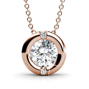 Millionaire Circle Necklace Embellished with Swarovski crystals - Brilliant Co