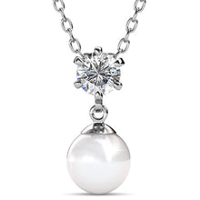 Margaux Necklace Embellished with Swarovski Crystal Pearls and Swarovski crystals - Brilliant Co