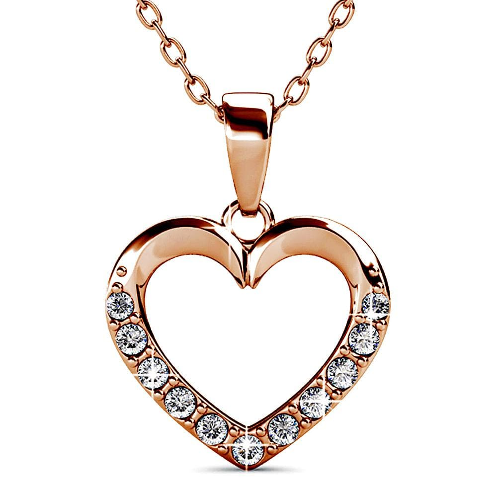 Innocent Heart Short Necklace Embellished with Swarovski® crystals - Brilliant Co