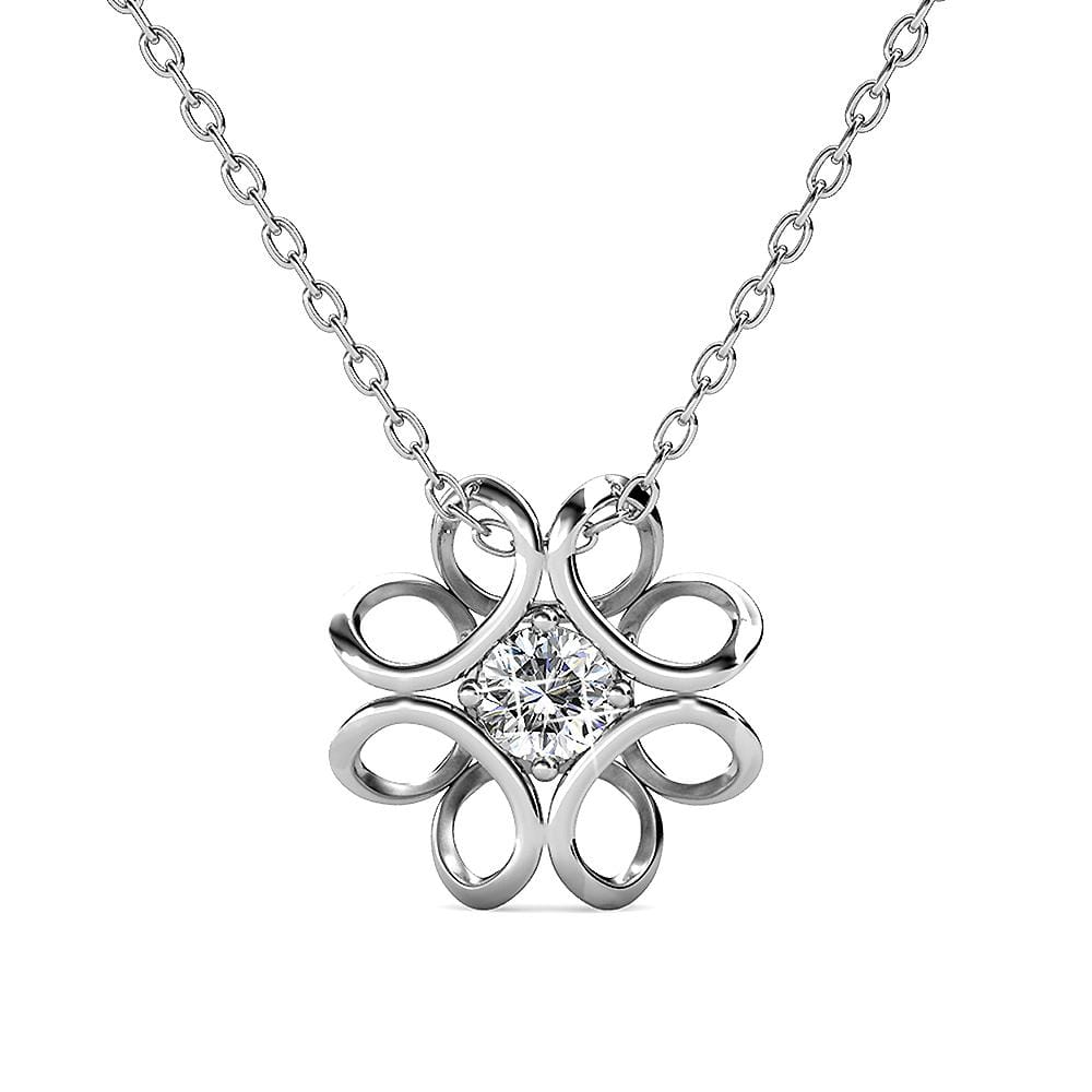 Daffodil Hologram Short Necklace Embellished with Swarovski crystals - Brilliant Co