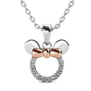 Minnie Mouse Necklace Featuring Crystals From Swarovski