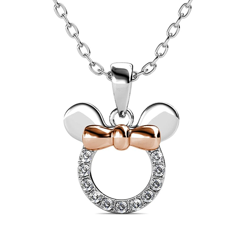 Minnie Mouse Necklace Embellished with Swarovski crystals