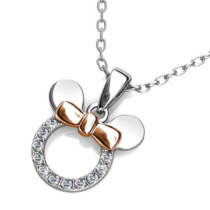 Minnie Mouse Necklace Embellished with Swarovski crystals - Brilliant Co