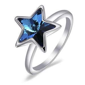 Midnight Star Ring Embellished with Swarovski crystals - Brilliant Co