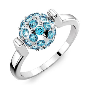 Tension Shamballa Ring Crystal Embellished with Swarovski crystals - Brilliant Co