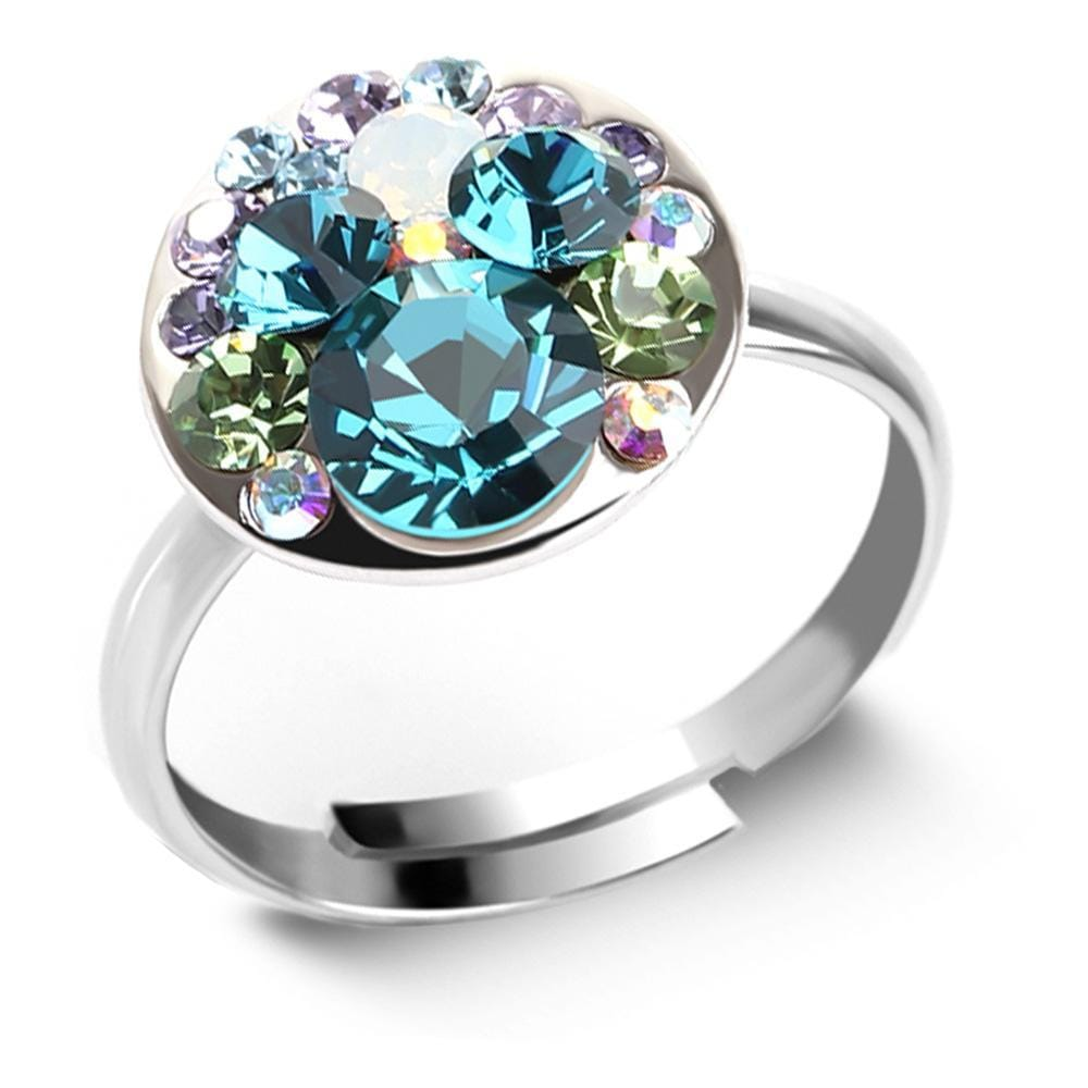 Mystic Moon Ring Crystal Embellished with Swarovski crystals - Brilliant Co