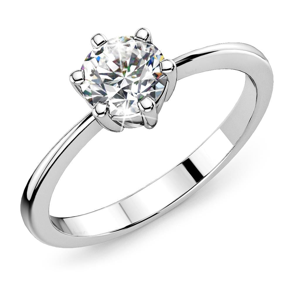Solitaire Ring Crystal Embellished with Swarovski crystals - Brilliant Co