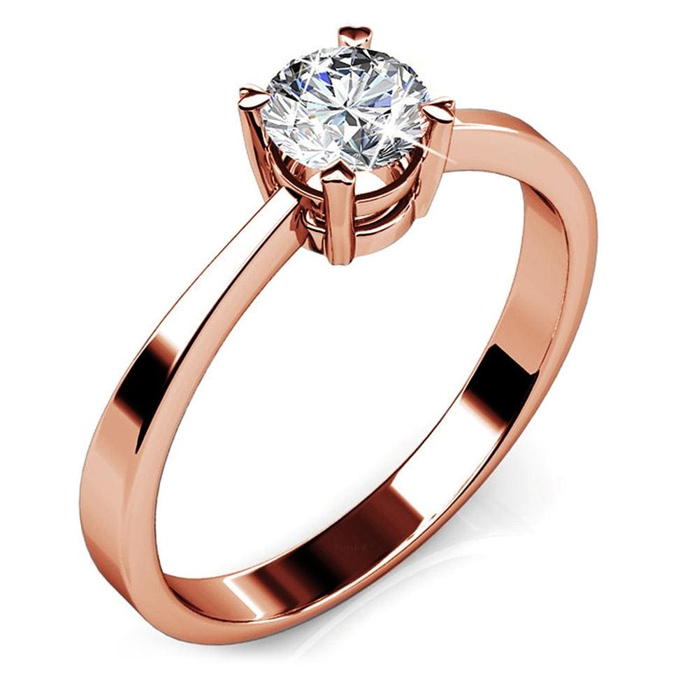 Solitaire Ring Embellished with Swarovski crystals