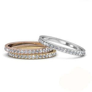 3pc Ring Set Embellished with Swarovski crystals - Brilliant Co