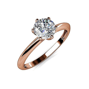 One In A Million Solitaire Ring Embellished with Swarovski crystals - Brilliant Co
