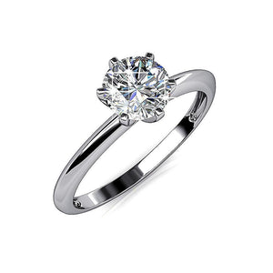 One In A Million Solitaire Ring Embellished with Swarovski crystals