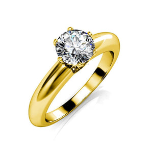 Jewel In The Palace Solitaire Ring w/Swarovski Crystals