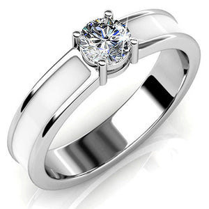 Marian Solitaire Ring Embellished with Swarovski crystals