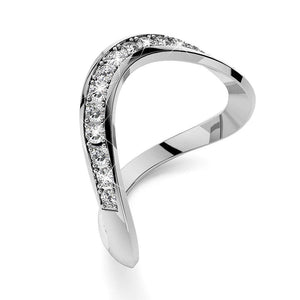 Contortion Ring Embellished with Swarovski crystals - Brilliant Co