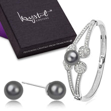 Crystal Pearl Set Tahitian Embellished with Swarovski crystals - Brilliant Co