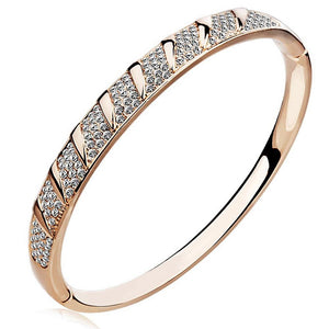 Swarovski Tululla Bangle Set Embellished with Swarovski crystals - Brilliant Co