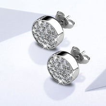Pave Necklace and Earrings Set Embellished with Swarovski crystals - Brilliant Co