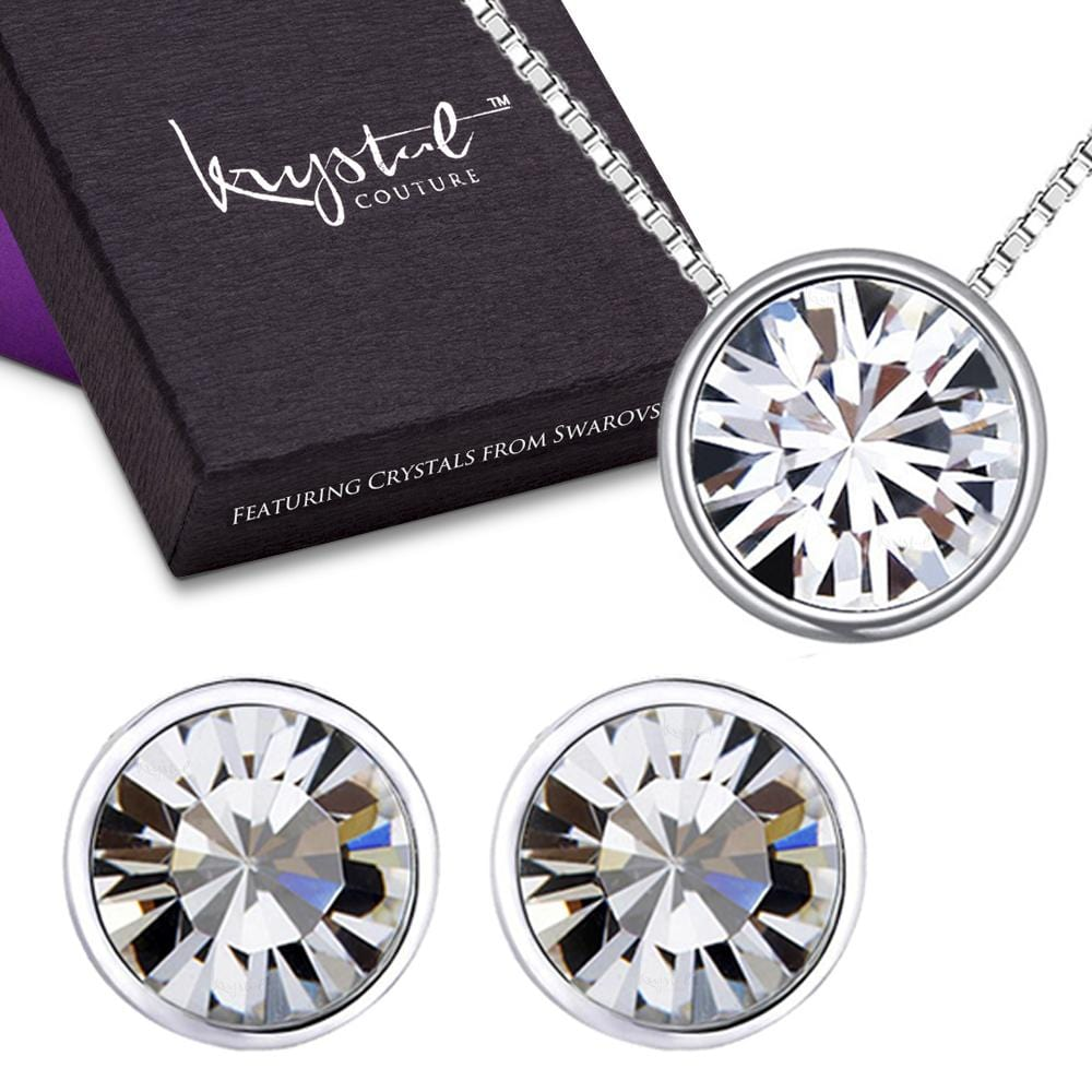 Starlight Clear Set Embellished with Swarovski crystals - Brilliant Co