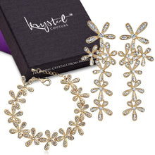 Magnolia Bracelet and Earrings Set Embellished with Swarovski crystals - Brilliant Co