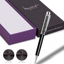 Boxed Pen and Earrings Set Black Embellished with Swarovski crystals - Brilliant Co