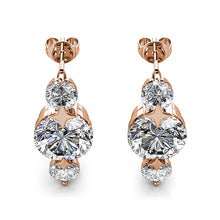 Boxed 2 Pairs Long Journey Drop Earrings Set Embellished with Swarovski crystals - Brilliant Co