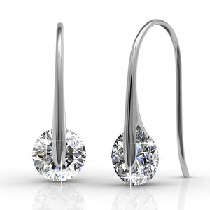 Boxed 3 Pairs Crystal Earrings Set Embellished with Swarovski crystals - Brilliant Co