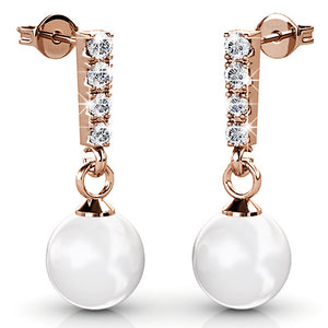 2Pr Swarovski Pearl Earrings Set