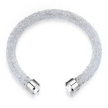 Load image into Gallery viewer, Lady In White Bangle And Earrings Set Embellished with Swarovski crystals - Brilliant Co