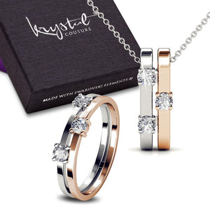 My Crystal Story Necklace And Ring Set Ft. Crystal From Swarovski