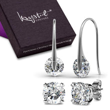 Boxed Earrings Set Embellished with Swarovski crystals - Brilliant Co