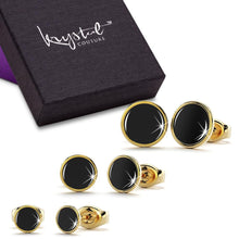 3 Prs Mitch Stud Earring Set Gold
