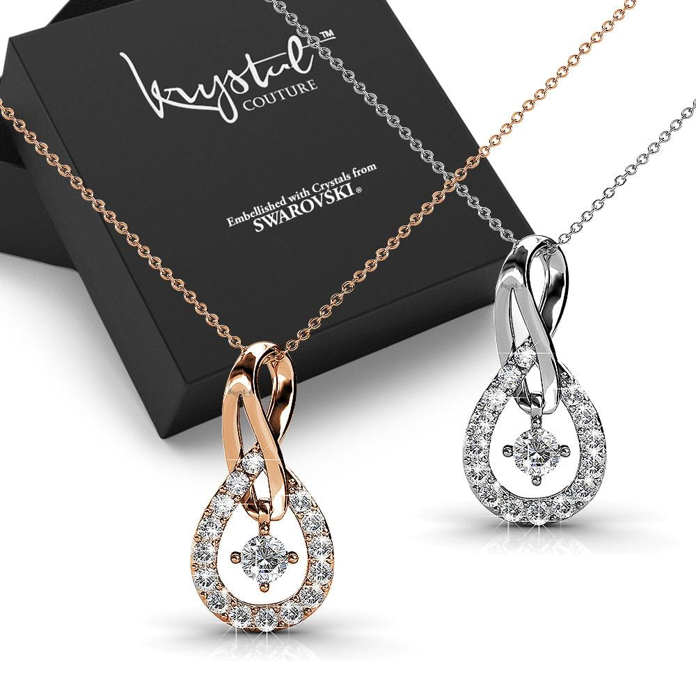 2pc Necklace Set Embellished with Swarovski crystals