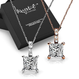 2pc Swarovski Crystal Embellished Necklace Set