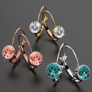 2pc Swarovski Crystal Embellished Earrings Set