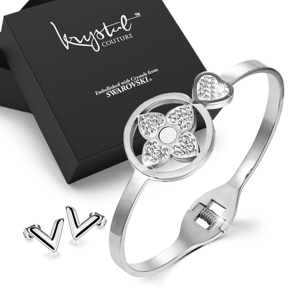 2pc White Gold Layered Jewellery Gift Set