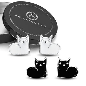 Boxed 2 Pairs of MewMew Earrings Set - Brilliant Co