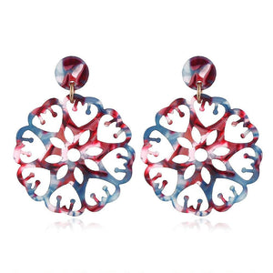Boxed 2 Pairs Kaleidoscopic Acetone Statement Earrings Set - Brilliant Co
