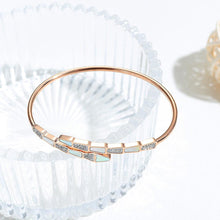 Boxed Pearl Oysters Golden Necklace and Bangle Set in Rose Gold Plated
