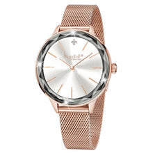 Krystal Couture Geometric Mineral Glass Feat Swarovski Crystal Watch Rose Gold White - Brilliant Co