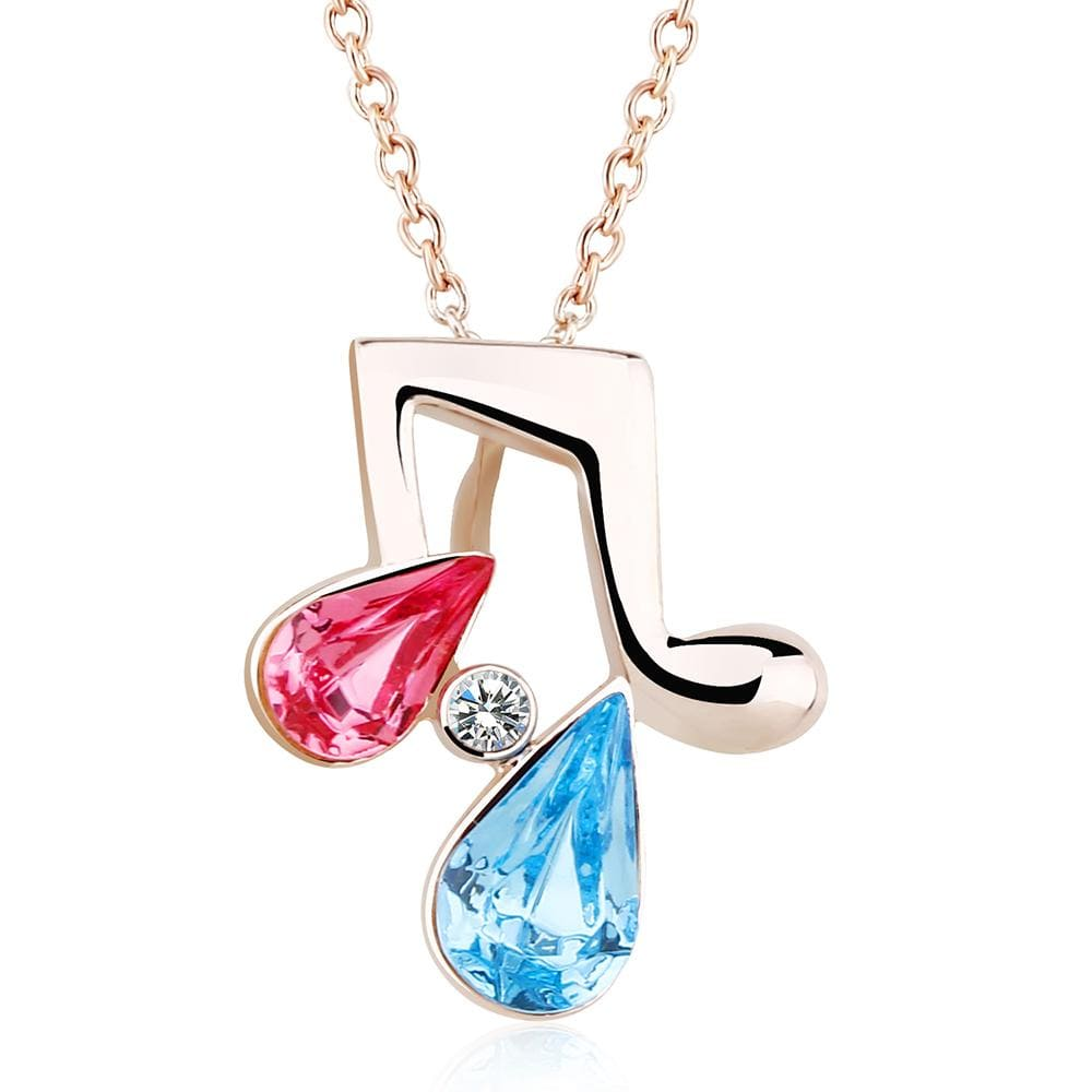 Melody Necklace Multi Colour Embellished with Swarovski crystals - Brilliant Co