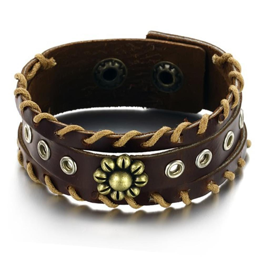 Genuine Leather Wrap Bracelet - Brilliant Co