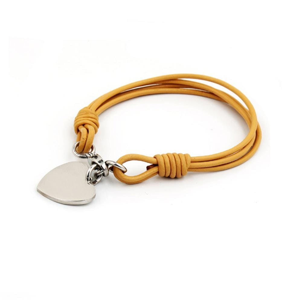 Heart Charm Wrap Bracelet - Brilliant Co