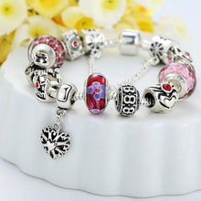 Load image into Gallery viewer, Pandora Inspired Full Set Beaded Charm Bracelet  - Red - Brilliant Co