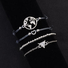 Load image into Gallery viewer, Bohemian 4-Piece Charm Bead Bracelet Set - Brilliant Co