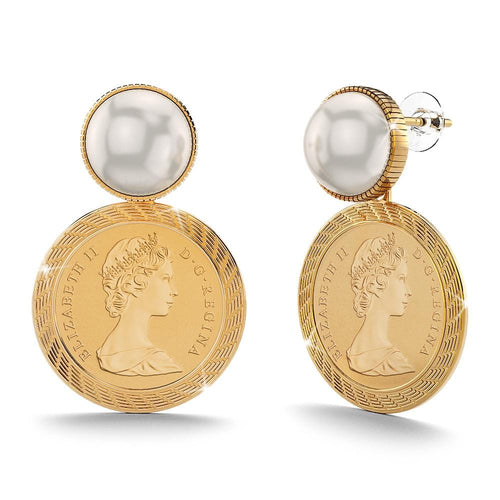 Fit For a Queen, Roman Penny Earrings