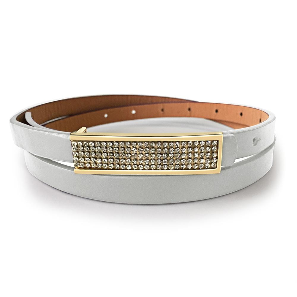 Leather Belt With Gold Buckle Gold - Brilliant Co
